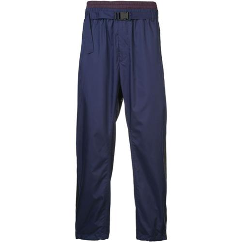 Imagem de 3.1 Phillip Lim Calça esportiva com dupla cintura - Azul