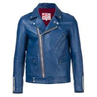 Addict Clothes Japan Jaqueta Biker De Couro - Azul