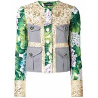 Dolce & Gabbana Jaqueta Brocada Com Estampa - Estampado