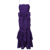 Bambah Vestido Com Renda E Babado - Pink & Purple