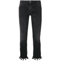 Current/elliott Calça Jeans Cropped Com Aplicação - Grey