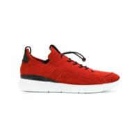 Enso Tênis De Camurça Com Cadarço Elástico - Vermelho