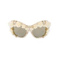 Dolce & Gabbana Eyewear Óculos De Sol Gatinho - Metálico