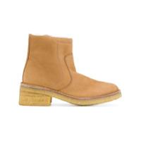A.p.c. Ankle Boot De Couro - Nude & Neutrals