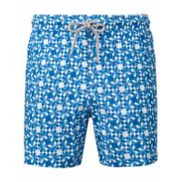 Capricode Shorts De Natação Estampado - Azul