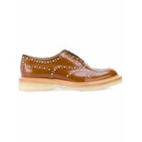 Church's Sapato De Couro Com Aplicações - Brown
