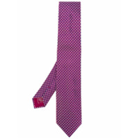 Brioni Gravata Jacquard De Seda - Pink & Purple