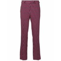 Etro Calça Cropped Estampada - Pink & Purple