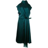 Bianca Spender Vestido 'iris' De Cetim - Green