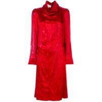 Maison Margiela Vestido Gola Alta - Vermelho