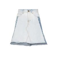 Framed Saia Jeans Recortes - Azul