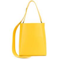 Calvin Klein 205W39Nyc Bolsa Tote De Couro - Amarelo E Laranja
