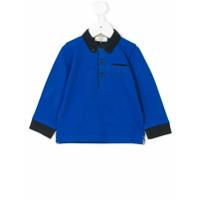 Armani Junior Camisa Polo Mangas Longas - Azul