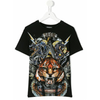 Balmain Kids Camiseta Com Estampa De Tigre - Preto
