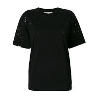 Stella Mccartney Camiseta Com Detalhe De Estrelas - Preto