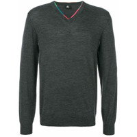 Ps By Paul Smith Suéter Gola V - Grey