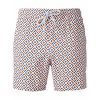 Capricode Shorts De Natação Com Estampa - Azul
