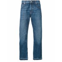 Alexander Mcqueen Calça Jeans Reta - Azul