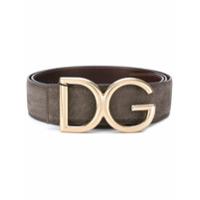 Dolce & Gabbana Cinto Com Fivela 'dg' - Grey