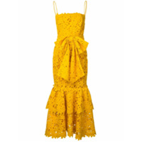 Bambah Vestido Com Renda - Amarelo E Laranja