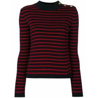 Red Valentino Suéter Listrado De Tricot - Vermelho