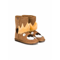 Emu Kids Ankle Boot De Camurça - Brown