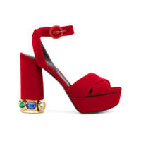 Casadei Sandália Com Plataforma - Vermelho