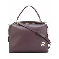 Bally Bolsa Transversal De Couro Com Logo - Pink & Purple