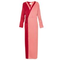 Framed Vestido Transpassado Bicolor - Pink & Purple