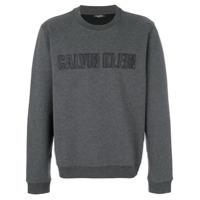 Calvin Klein Moletom Com Logo Bordado - Grey