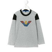Armani Junior Camiseta Mangas Longas - Grey
