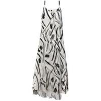 Diane Von Furstenberg Vestido Estampado De Seda - Branco