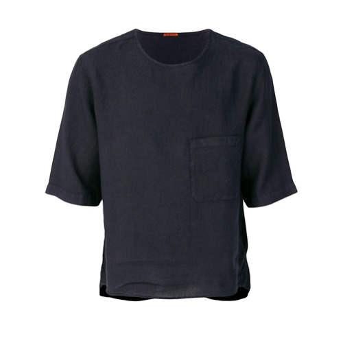 Imagem de Barena Camiseta de linho com patch - Azul