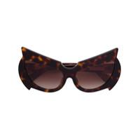 Fakbyfak Óculos De Sol Gatinho - Brown