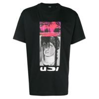 Diesel Camiseta Com Estampa - Preto