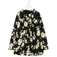 Dolce & Gabbana Kids Vestido Floral - Preto