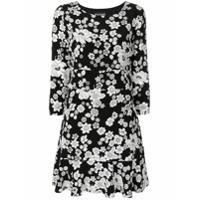Boutique Moschino Vestido Floral Peplum - Preto
