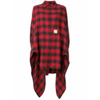 Dsquared2 Camisa Xadrez Assimétrica - Vermelho