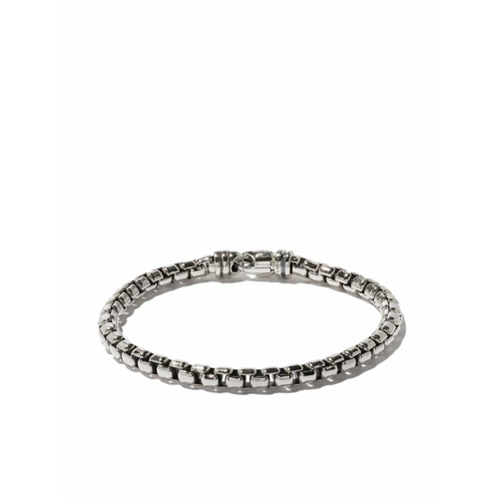 Pulseira 'Box Chain' de prata , DAVID YURMAN.