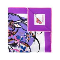 Emilio Pucci Echarpe Floral De Seda - Pink & Purple