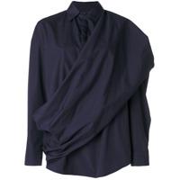 Chalayan Camisa Com Faixa - Azul