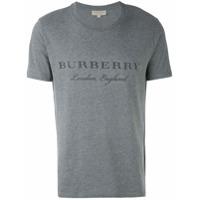 Burberry Camiseta Com Logo - Grey