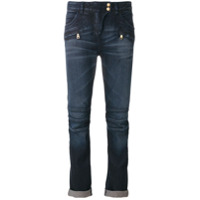 Balmain Calça Jeans Cropped - Azul