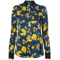 Altuzarra Camisa De Seda Floral - Azul