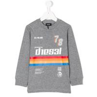 Diesel Kids Moletom Com Estampa - Grey