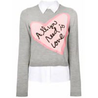 Alice+Olivia Suéter 'all You Need Is Love' - Cinza