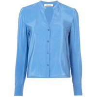 Dvf Diane Von Furstenberg Blusa De Seda Com Botões - Azul