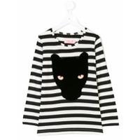 Bang Bang Copenhagen Camiseta Listrada 'panther' - Preto