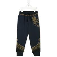 Dolce & Gabbana Kids Calça Esportiva Com Estampa 'royal' - Azul