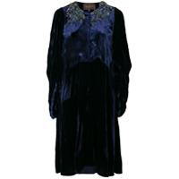 Biyan Vestido De Veludo - Azul